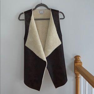 Nordstrom faux fur/leather vest